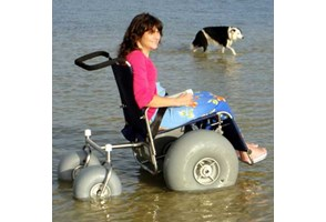 Wheel Chair in water
